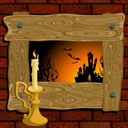 halloween background Stock Vector - 10954077