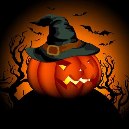 halloween background Stock Vector - 10954076
