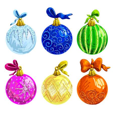 collection: set of christmas balls