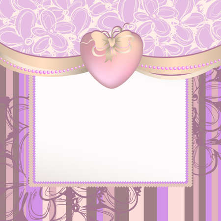 background with heart Stock Vector - 12065549