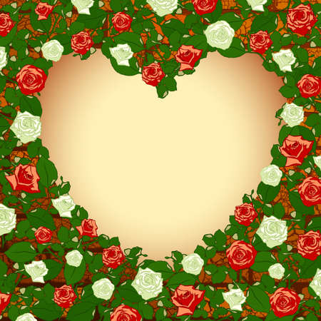 valentines heart frame Stock Vector - 12346119