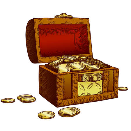old chest Stock Vector - 12346122