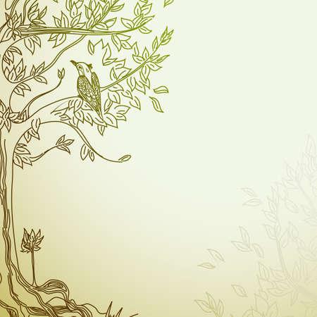 природа: декоративный фон Иллюстрация