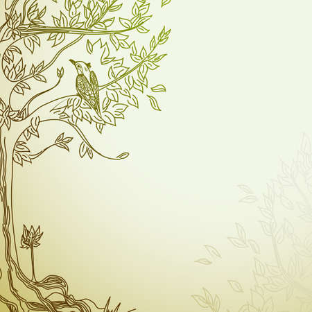 příroda: pozadí ozdobného