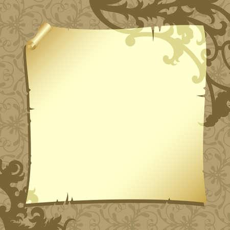 papiro: sfondo con carta Vettoriali