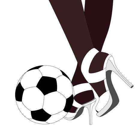 football shoes: background with ball