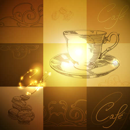 caffee: coffee background Illustration
