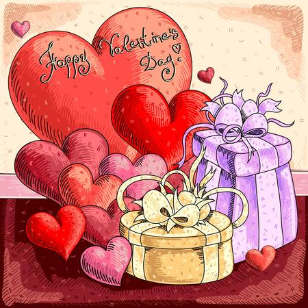 Valentines background Stock Vector - 17775722