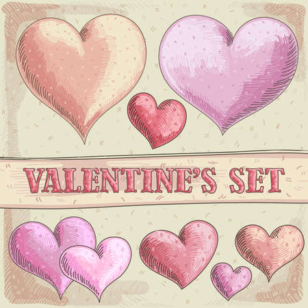 Valentines hearts Stock Vector - 17775734