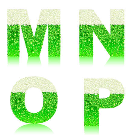 alphabet green beer MNOP Stock Vector - 18003137