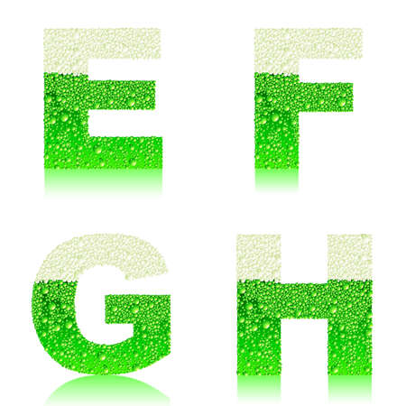 liquid g: alphabet green beer EFGH
