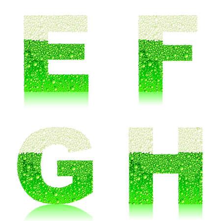 liquid g: alphabet green beer EFGH