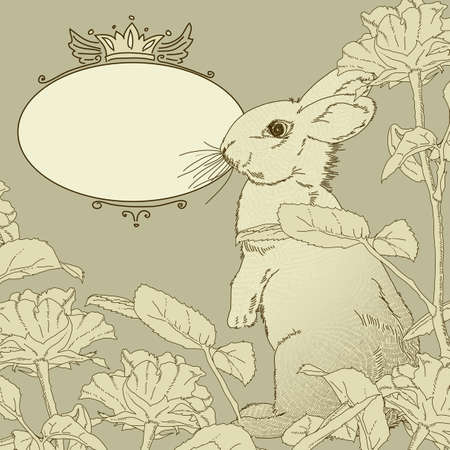 background with rabbit Stock Vector - 19727001