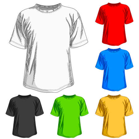short sleeve: set of shirts Illustration