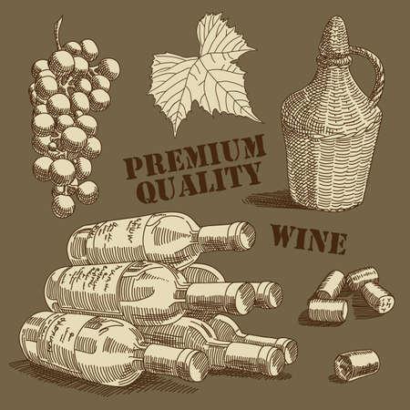 cork sheet: wine background