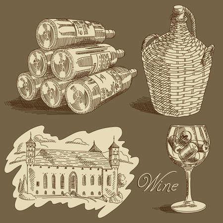 chateau: wine background