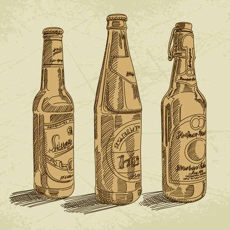 beer bottle: beer background
