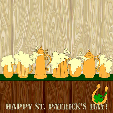 three leafed clover: Patrick background