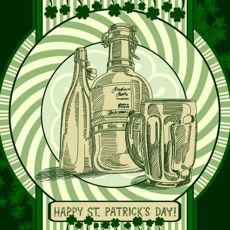 Happy St Patricks Day background Illustration
