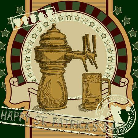irish pub label design: Patrick background