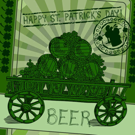 Happy St Patricks Day background Vector