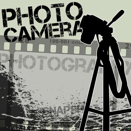 tripods: photo camera Illustration
