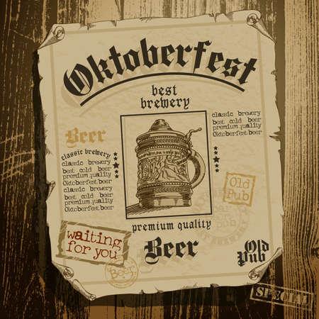 oktoberfest: beer background Oktoberfest
