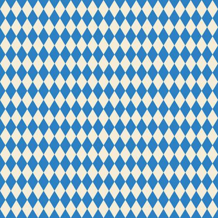 beer background: seamless texture bavarian flag Illustration