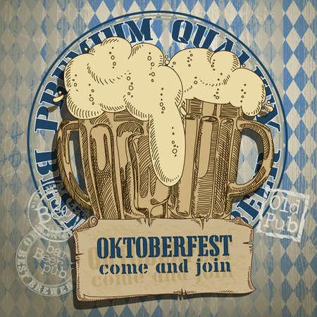 bier achtergrond Oktoberfest