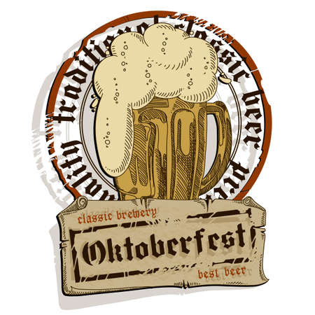 tankard: Design flyers and labels to traditional Oktoberfest beer festival