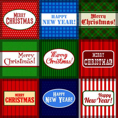 merriment: set of christmas banners