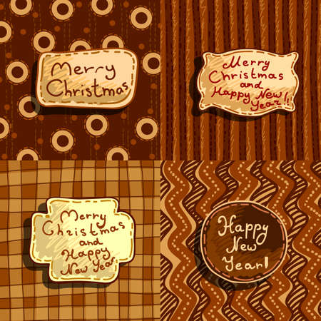 merriment: sset of christmas banners