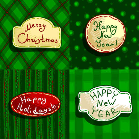 merriment: set of christmas banners