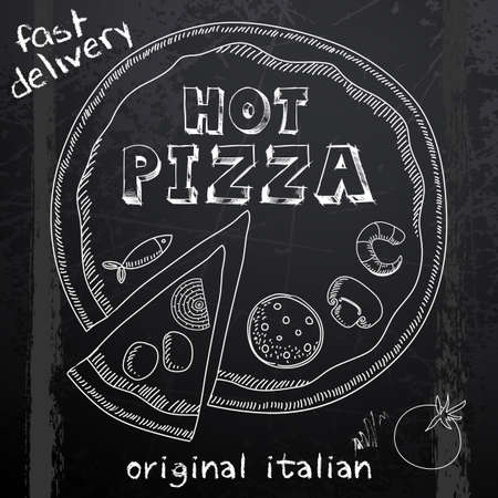 the hot: hot pizza advertisement