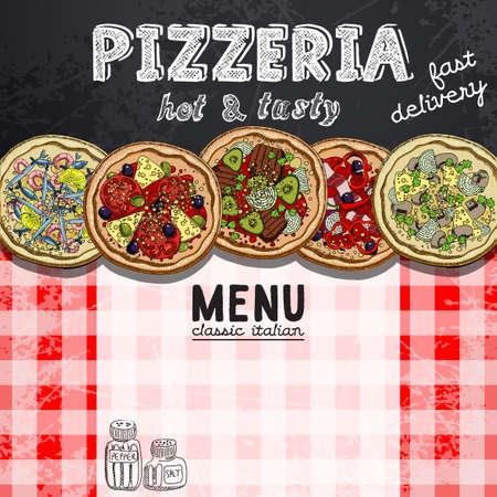 sausages: menu design in the pizzeria