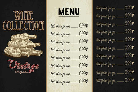 industry pattern: sample design wine list at the restaurant