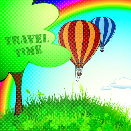unforgettable: unforgettable experience of a new journey in a balloon in the summer time