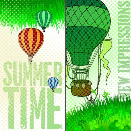 outdoor event: unforgettable experience of a new journey in a balloon in the summer time
