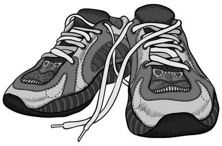the pair: Pair of sneakers