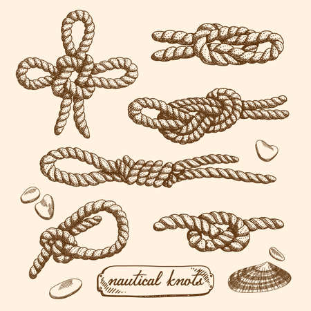 Detailed drawings of nautical knots