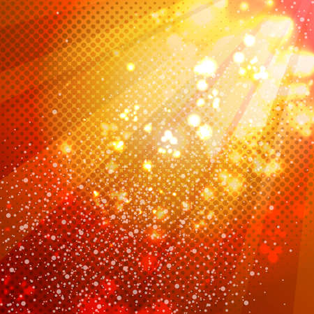 Red abstract decorative background with bright highlights.
