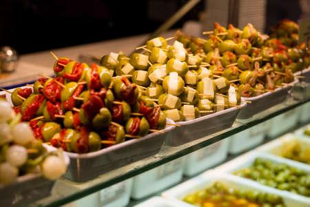 Olives in Mercado de San Miguel