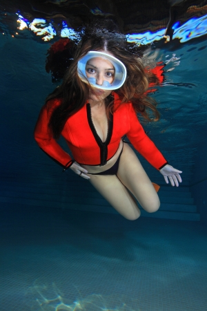 Female diver  photo