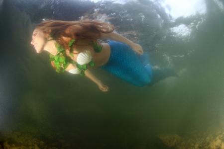 Mermaid underwater photo