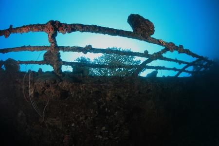 sunken boat: Shipwreck