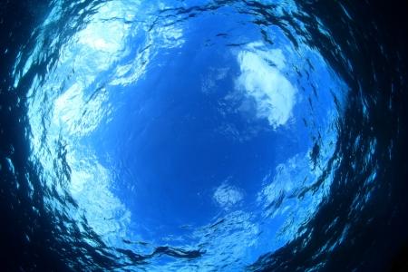 Wateroppervlak van de oceaan