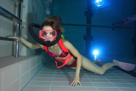 Female scuba diver  photo