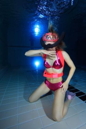 ahogandose: Buceador Femenino de aire