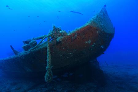 Shipwreck in the atlantic ocean photo