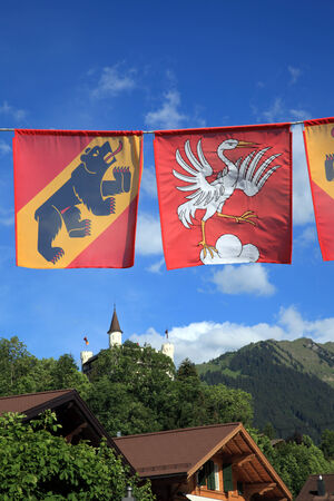 Flags of Bern and Gstaad photo